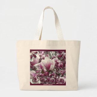 Grand Tote Bag Fourre-tout enorme - magnolia de soucoupe
