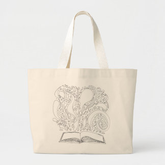 Grand Tote Bag Fourre-tout - magie de livre