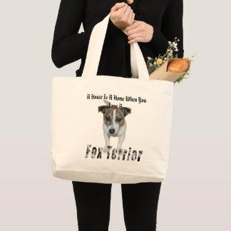 Grand Tote Bag Fox Terrier et une Chambre est un logo à la