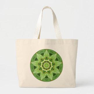 Grand Tote Bag Fractale succulente d'étoile de cactus