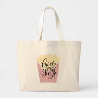 Grand Tote Bag FRITURES AVANT DES TYPES, chemises impertinentes,