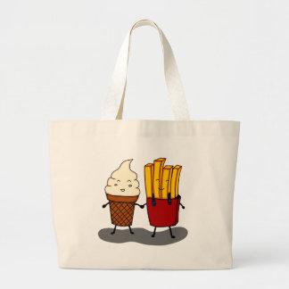 Grand Tote Bag Fritures et crème glacée