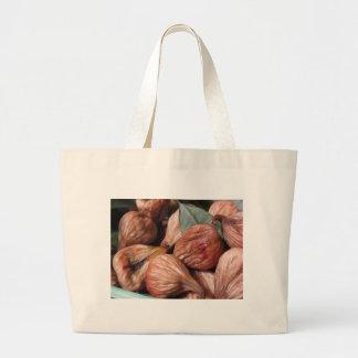 Grand Tote Bag Fruits d'automne. Plan rapproché des figues sèches