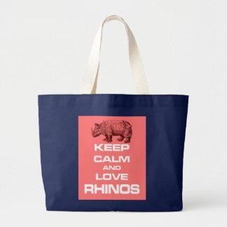 Grand Tote Bag Gardez la conception de calme et d'amusement de
