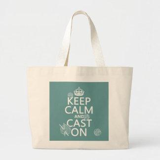 Grand Tote Bag Gardez le calme et moulez dessus - toutes les