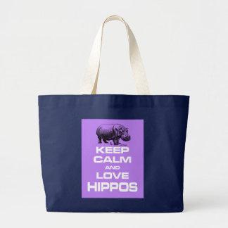 Grand Tote Bag Gardez le pourpre de calme et de conception de
