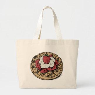 Grand Tote Bag Gaufres belges avec des fraises