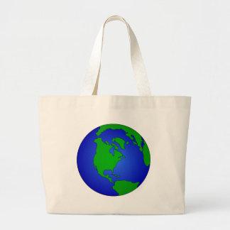 Grand Tote Bag Globe de la terre