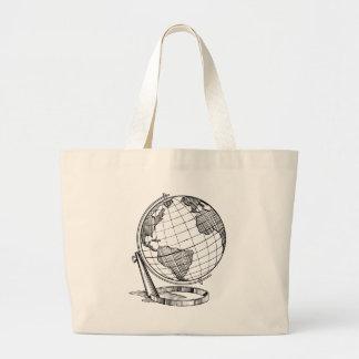 Grand Tote Bag Globe du monde