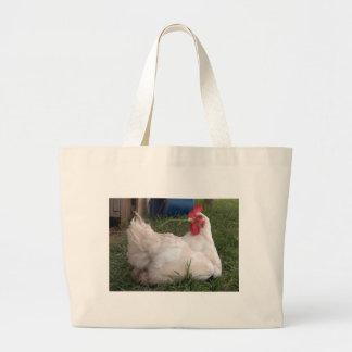 Grand Tote Bag Gloussent le poulet blanc