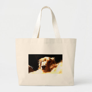 Grand Tote Bag Golden retriever au soleil