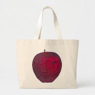 Grand Tote Bag Grande image de mélange de pomme de New York City