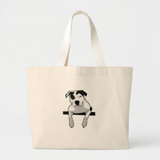 Grand Tote Bag Graphique d'à l'os de pitbull