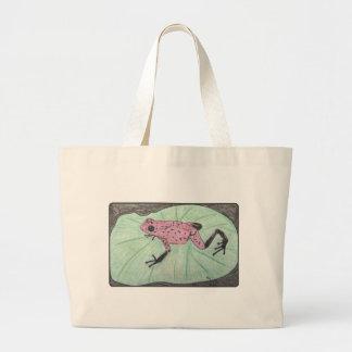 Grand Tote Bag Grenouille mignonne et colorée