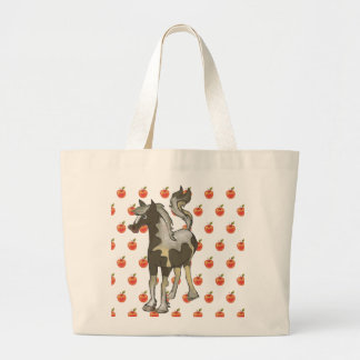 Grand Tote Bag Grocery par with horse and apples