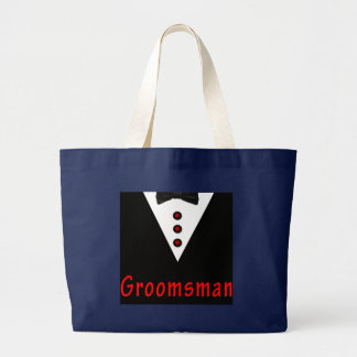 Grand Tote Bag Groomsman dans Tux