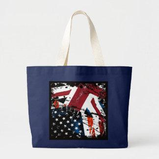 Grand Tote Bag Grunge d'USA-UK