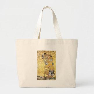 Grand Tote Bag Gustav Klimt - l'étreinte - illustration classique
