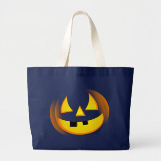 Grand Tote Bag Halloween - citrouille éffrayant