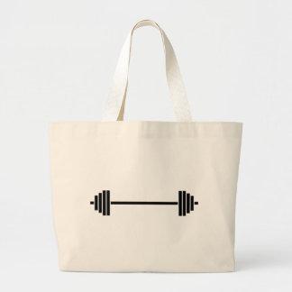 Grand Tote Bag Haltère d'haltérophilie