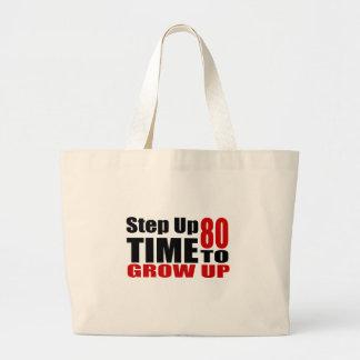 Grand Tote Bag Heure 80 de grandir des conceptions d'anniversaire