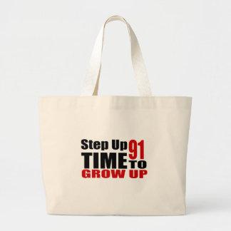 Grand Tote Bag Heure 91 de grandir des conceptions d'anniversaire