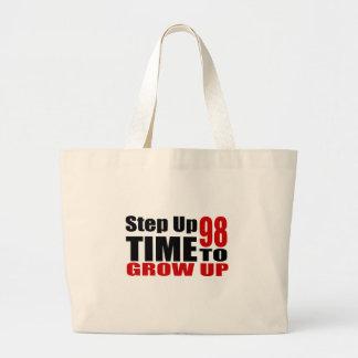 Grand Tote Bag Heure 98 de grandir des conceptions d'anniversaire
