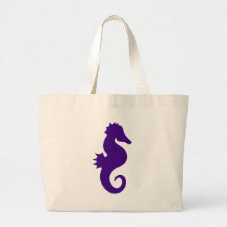 Grand Tote Bag Hippocampe pourpre