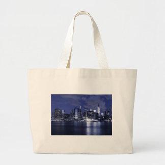 Grand Tote Bag Horizon de New York la nuit