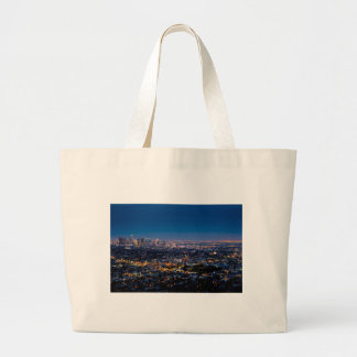 Grand Tote Bag Horizon de nuit de Los Angeles