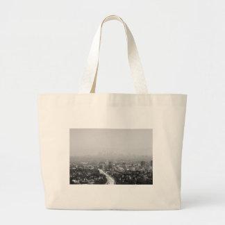 Grand Tote Bag Horizon noir et blanc de Los Angeles