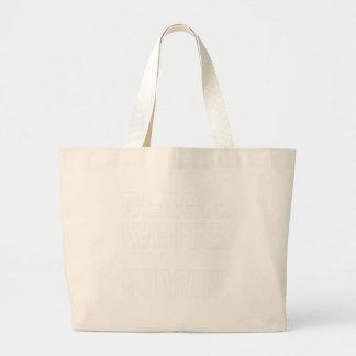 Grand Tote Bag Humain blanc noir - nous sommes tous les êtres