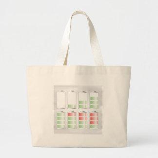 Grand Tote Bag icône de batterie