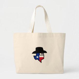 Grand Tote Bag Icône de drapeau du Texas de bandit