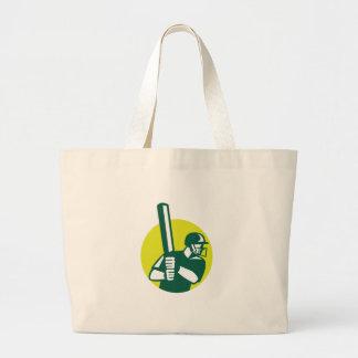 Grand Tote Bag Icône d'ouate en feuille de batteur de cricket