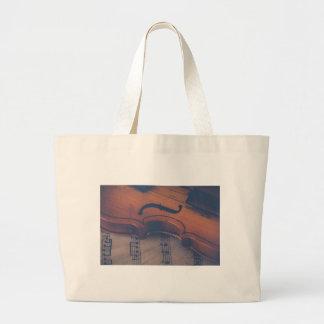Grand Tote Bag Instrument de musique de classique d'instrument de