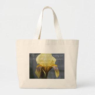Grand Tote Bag Iris de zèbre de jaune de 139:14 de psaume