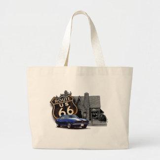 Grand Tote Bag Itinéraire 66 Camaro à la station service