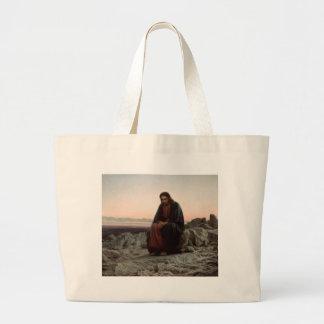 Grand Tote Bag Ivan Kramskoy- le Christ dans la région sauvage -