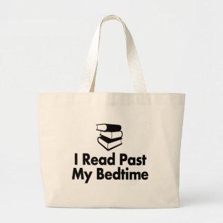 Grand Tote Bag J'ai lu après mon heure du coucher Fourre-tout