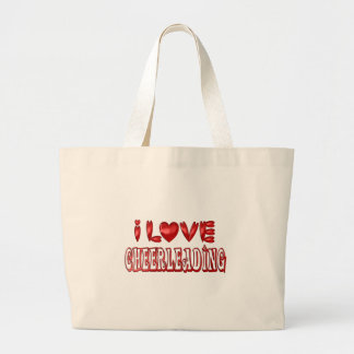 Grand Tote Bag J'aime Cheerleading