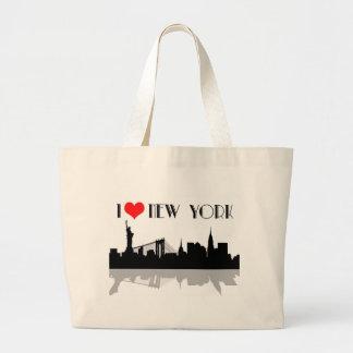 Grand Tote Bag J'aime l'emballage d'éléphant de New York