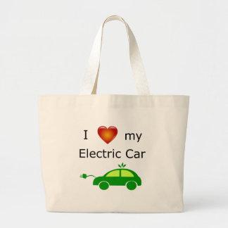 Grand Tote Bag J'aime ma voiture électrique