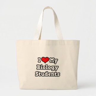 Grand Tote Bag J'aime mes étudiants de biologie