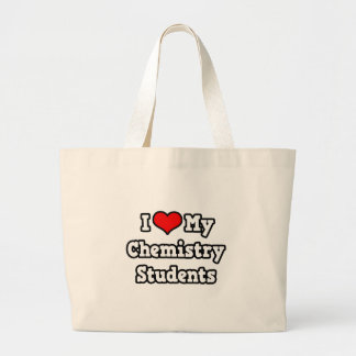 Grand Tote Bag J'aime mes étudiants de chimie