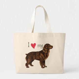 Grand Tote Bag J'aime mon épagneul de Boykin