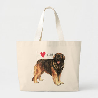 Grand Tote Bag J'aime mon Leonberger