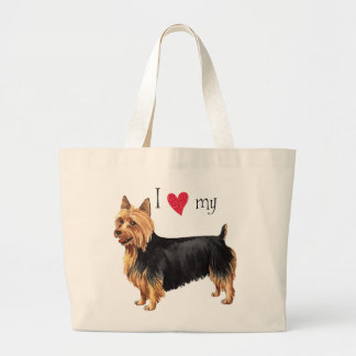 Grand Tote Bag J'aime mon Terrier australien