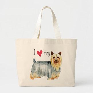 Grand Tote Bag J'aime mon Terrier soyeux