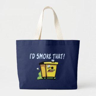 Grand Tote Bag Je fumerais cette ruche d'abeille